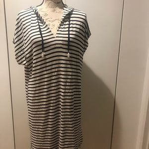 NWOT Cable & Gauge Blue & Striped White Dress